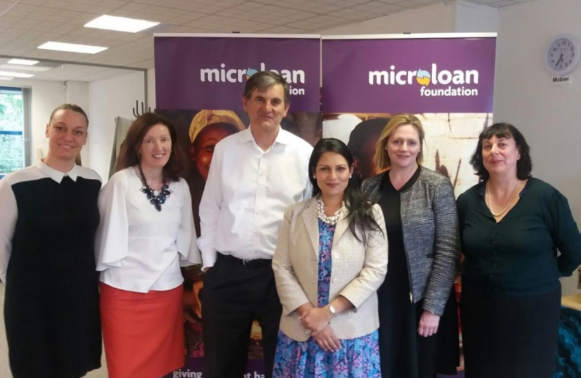 Mary and Priti Patel at MicroLoan Foundation