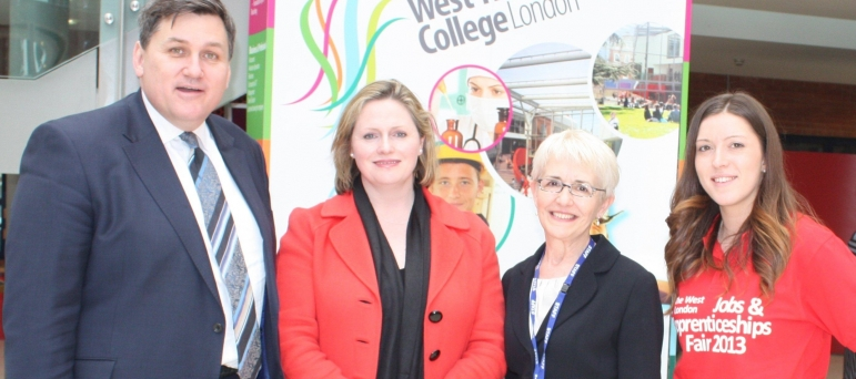 Mary Macleod MP and Kit Malthouse at Mary's Jobs Fair